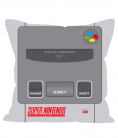 "SNES Super Nintendo - Famicon Console Design 12"" Sofa Cushion Throw Pillow"